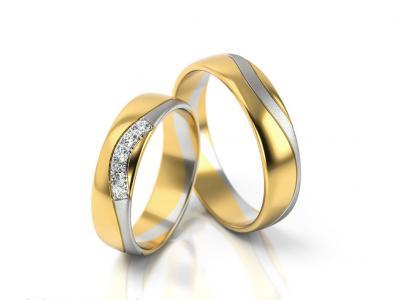 Snubní prsteny - vzor 293