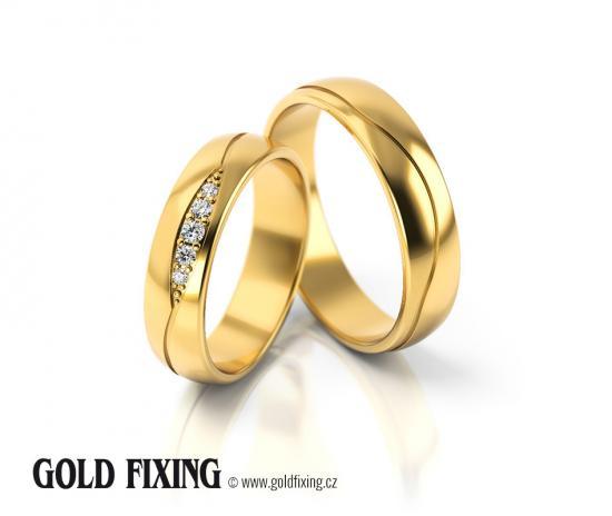Snubní prsteny - vzor 296