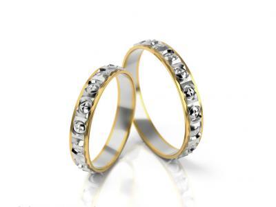 Snubní prsteny - vzor 303