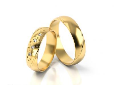 Snubní prsteny - vzor 304