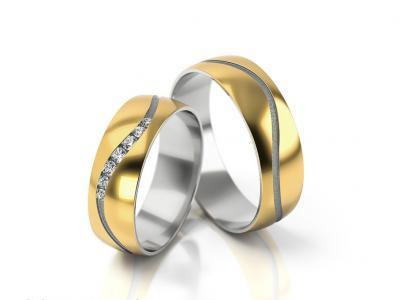 Snubní prsteny - vzor 307