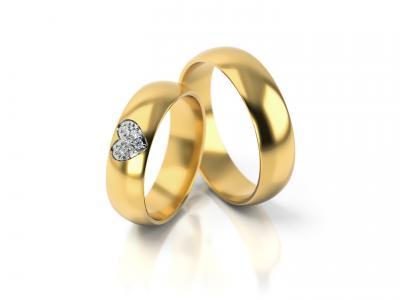 Snubní prsteny - vzor 310