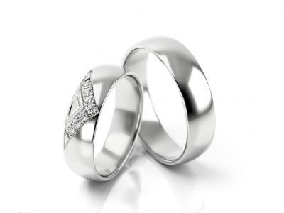 Snubní prsteny - vzor 313
