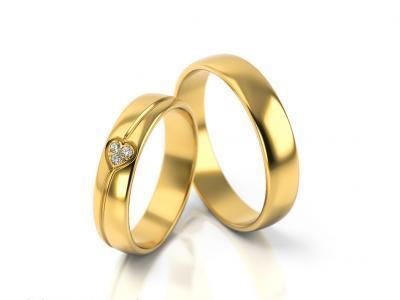 Snubní prsteny - vzor 314