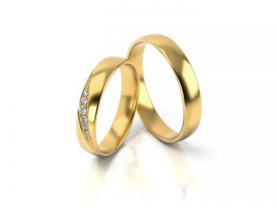 Snubní prsteny - vzor 317