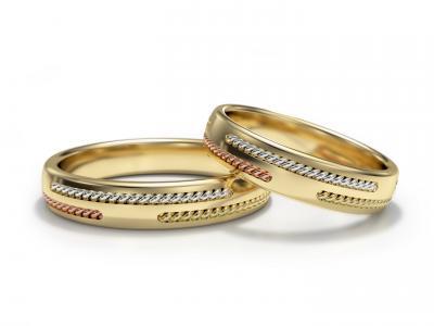 Snubní prsteny - vzor 322